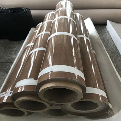 Antistatic rating PTFE coated fiberglass brown fabric