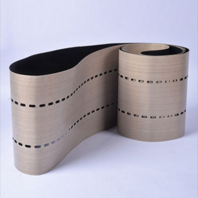 PTFE Tabber Stringer Belts with Seamless 2 rows of holes